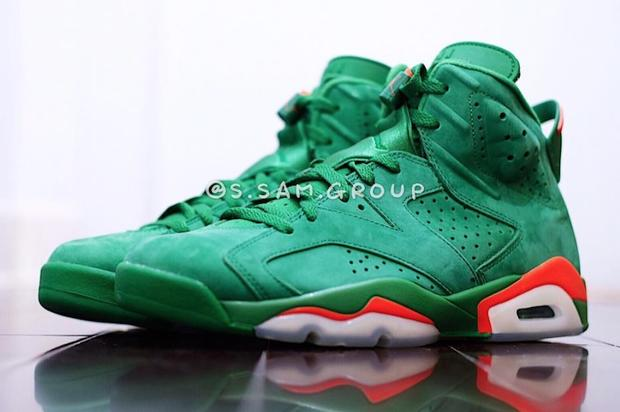The green-suede 6s are releasing in December. https   www.hotnewhiphop .com green-suede-gatorade-air-jordan-6-release-details-announced-news.39785.html  ... 4226101e5cf0