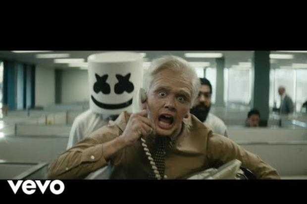 Logic Morphs Into An Old Man In Marshmello-Assisted