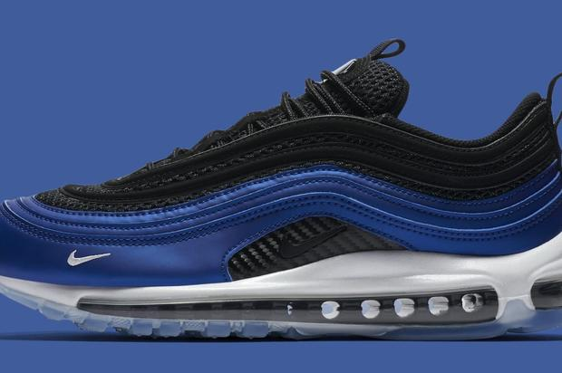 "b5521f7f63 The shoe resembles the OG ""Royal"" colorway. https://www.hotnewhiphop.com/ nike-air-max-97-inspired-by-the-foamposite-coming-soon-official-photos-news.80171.  ..."