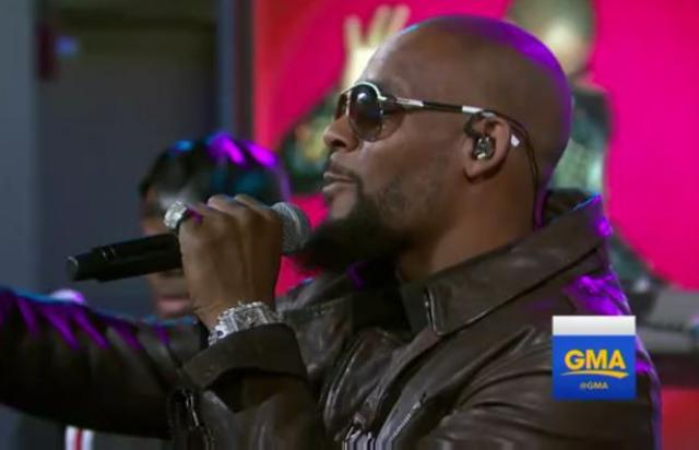 R Kelly Performs Backyard Party Ignition Remix On GMA