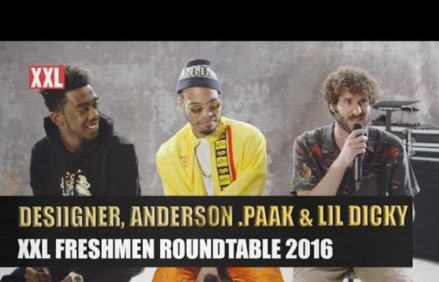Desiigner Lil Dicky Anderson Paaks XXL Freshmen Roundtable - Anderson round table