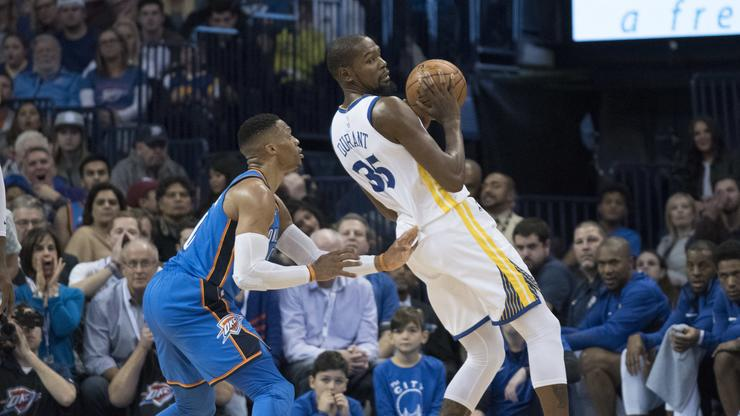 bc322608dc0 Kevin Durant   Russell Westbrook Get Into Heated Exchange In OKC