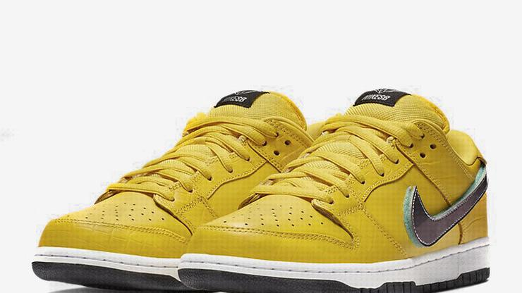 0c458907e2 Diamond Supply Co. x Nike SB Dunk Low Surfaces In Yellow Colorway