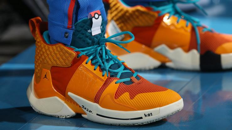 """online store 6704e 703a6 Russell Westbrook Debuts """"Charizard"""" Jordan Why Not Zer0.2 Colorway"""