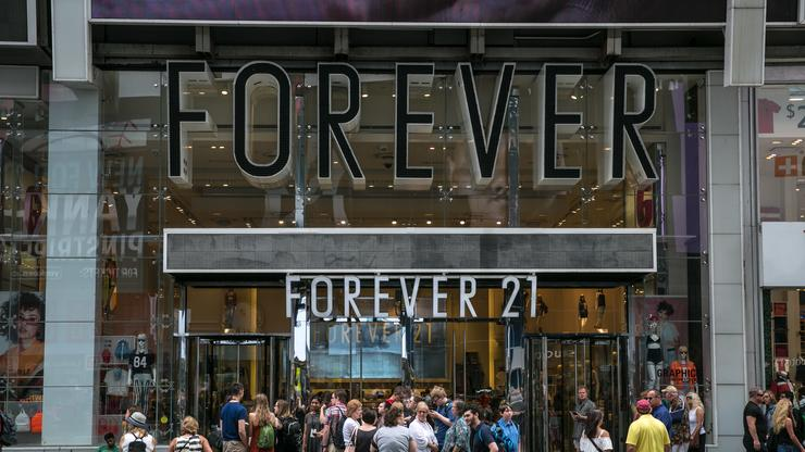 Forever 21 Files For Bankruptcy