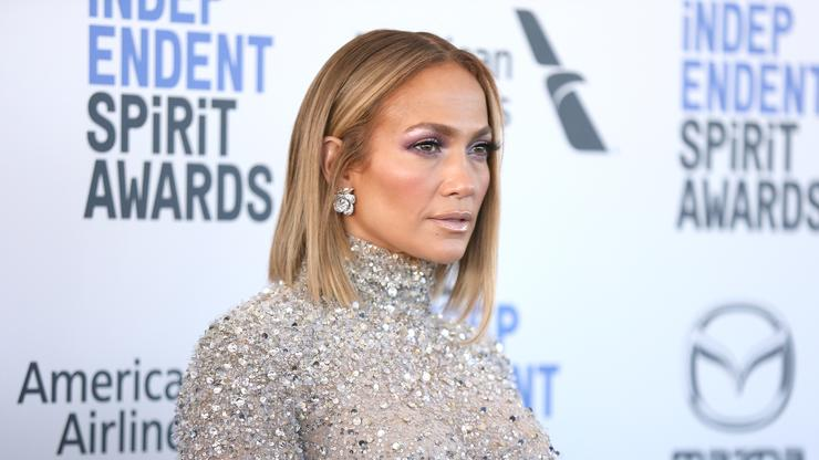 Jennifer Lopez poses half-naked in a sequined cape   Page Six