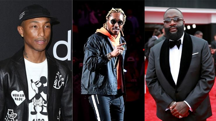 Future, Rick Ross & More Attend Pharrell's South Beach Miami Hotel Launch