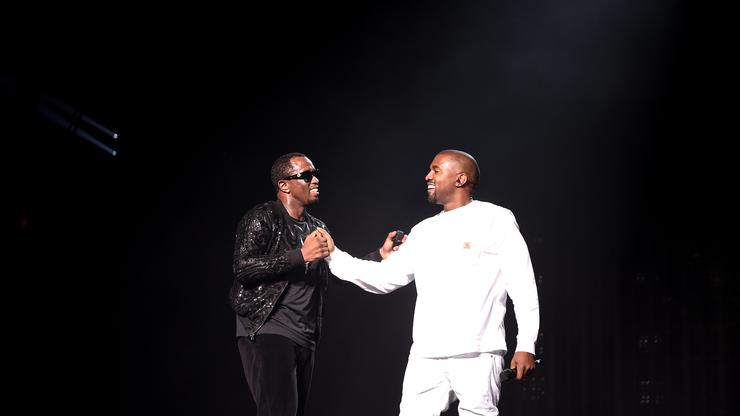 Kanye West & Diddy Turn Up To DONDA With Friends At House Party